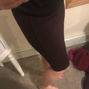 Medium INC Fitted Dark Merlot Colored Pencil skirt